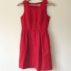 J.Crew Factory Red Sleeveless Career Dress Size 2